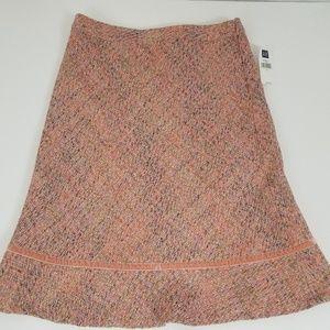 Gap Women Pink A-line flare Wool blend skirt lined
